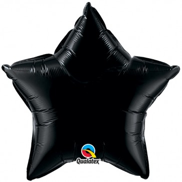 Black Star Foil Balloon