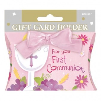 Communion Pink Gift Card Holder
