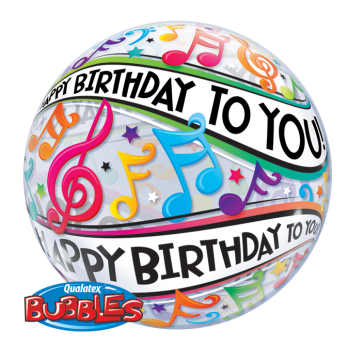 'Happy Birthday To You' Music Note Bubble Balloon