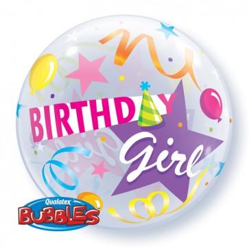 'Birthday Girl' Bubble Balloon