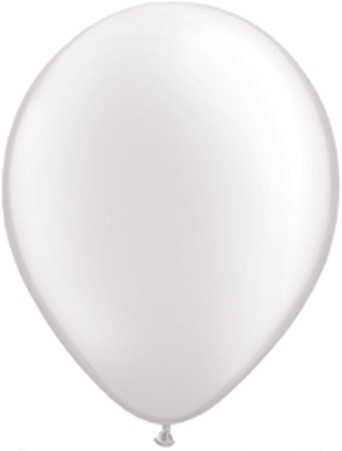25 Pearl White Latex Balloons