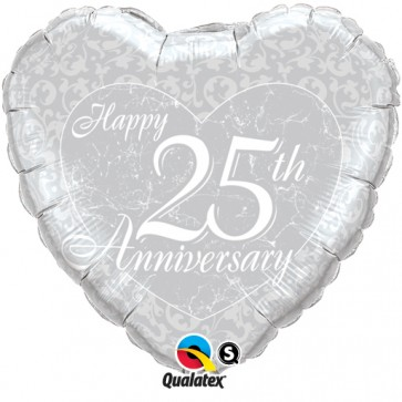 25th Anniversary Heart Foil