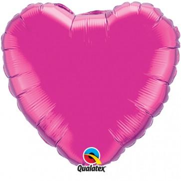 Hot Pink Heart Foil Balloon