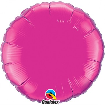 Hot Pink Round Foil Balloon