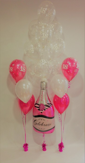 AGE 18 PINK PARTY POP PACKAGE