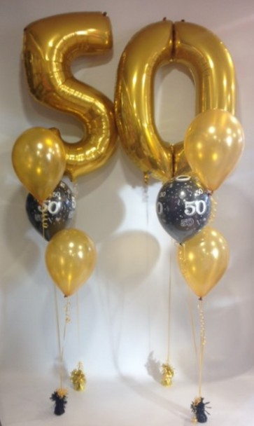 AGE 50 BLACK & GOLD CLASSIC BALLOON PACKAGE