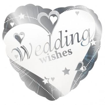 'Wedding Wishes' Love Heart Foil Balloon