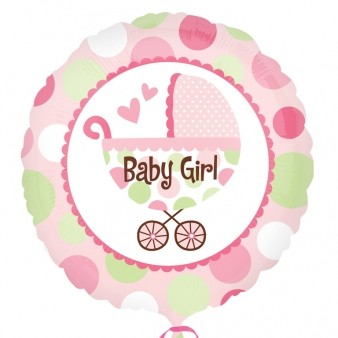 Baby Girl Buggy Foil Balloon