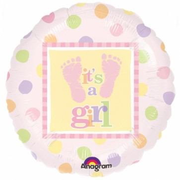 Baby Girl Steps Foil Balloon