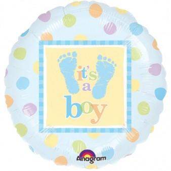 Baby Boy Steps Foil Balloon