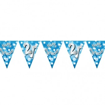 Happy 21st Birthday Blue Flag Banner