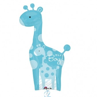 Dad & Baby Blue Giraffes SuperShape Foil Balloon