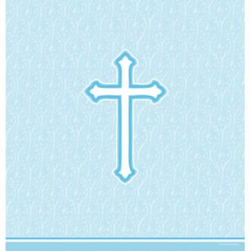 Blue Faith Plastic Tablecover