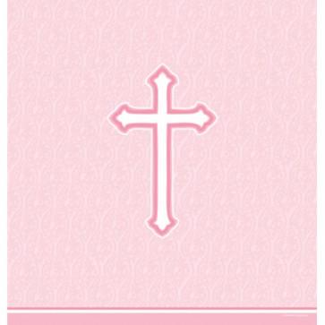 Pink Faith Plastic Tablecover