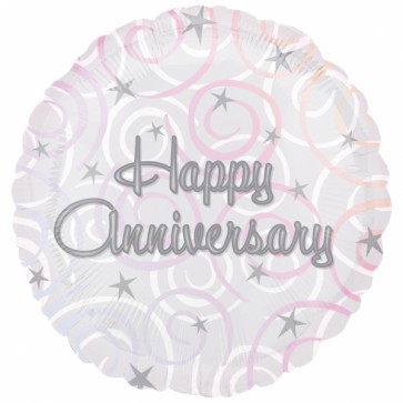 Happy Anniversary Swirls Foil Balloon