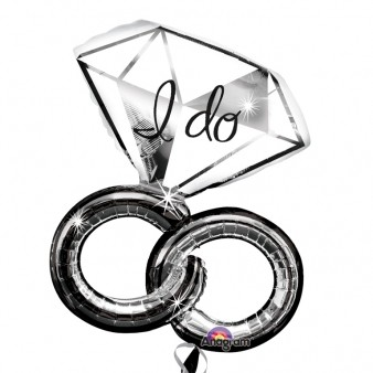 'I Do' Wedding Rings SuperShape Foil Balloon