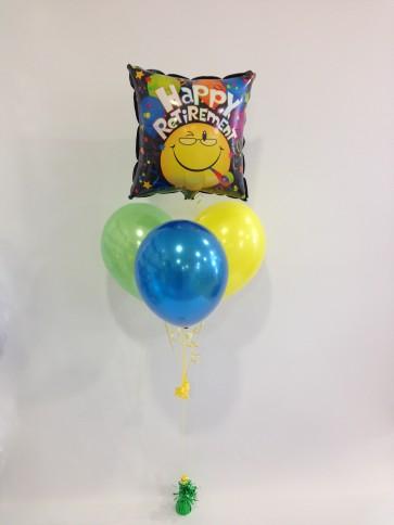Happy Retirement Smiley Face Balloon Bundle
