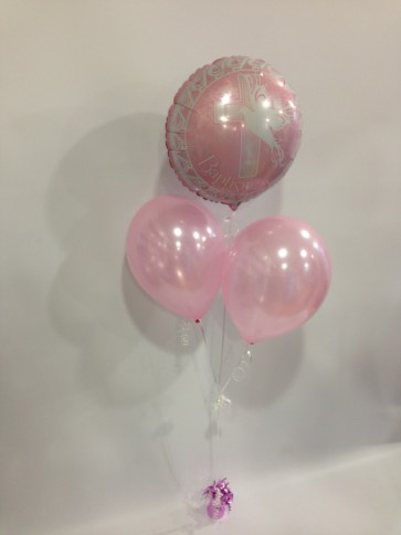Pink Baptism Balloon Bunch
