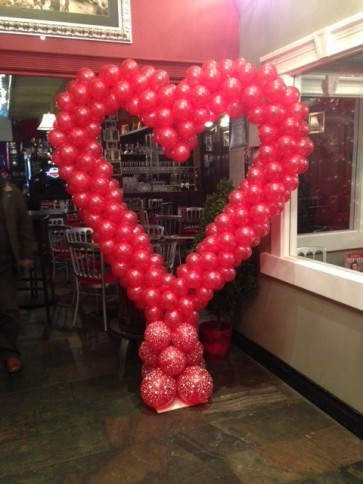 Large Red Heart Balloon Sculpture