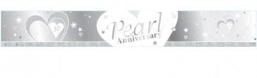 Pearl Wedding Anniversary Banner
