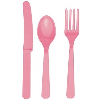 Hot Pink Plastic Cutlery