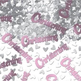 Christening Pink Metallic Confetti