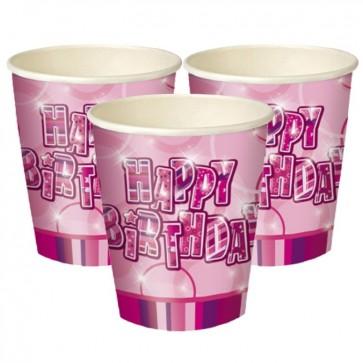 Pink Glitz Paper Cups