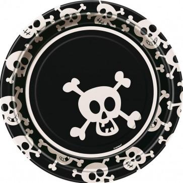 Pirate Skulls Paper Plates