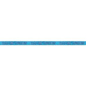 Age 100 Blue Glitz Banner