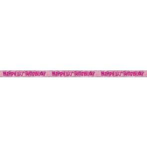 Age 100 Pink Glitz Banner