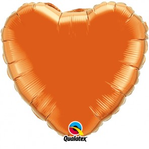 Orange Heart Foil Balloon