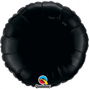 Black Round Foil Balloon
