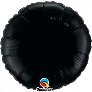 Black Round Foil Balloon