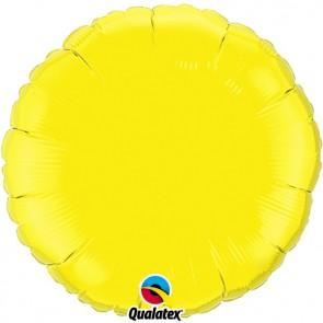 Yellow Round Foil Balloons