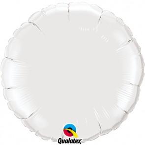 White Round Foil Balloon