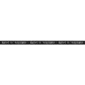 Age 13 Black & Silver Glitz Banner