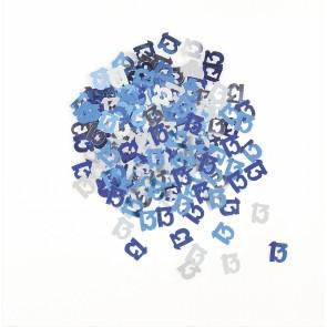 Age 13 Blue Glitz Confetti