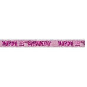 Age 13 Pink Glitz Banner