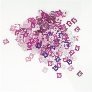Age 13 Pink Glitz Confetti