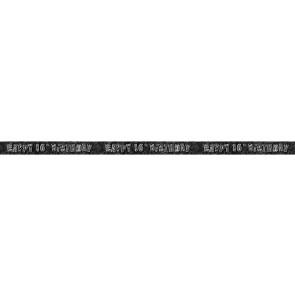 Age 16 Black & Silver Glitz Banner