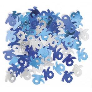Age 16 Blue Glitz Confetti