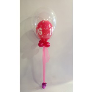 Age 16 Hot Pink Double Bubble