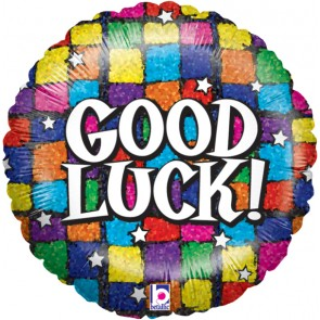 Good Luck Squares Foil Balloon