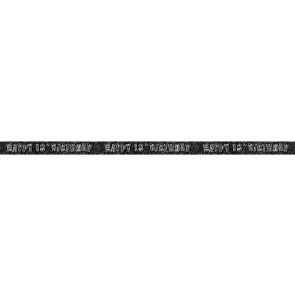 Age 18 Black & Silver Glitz Banner