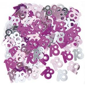 Age 18 Pink Glitz Confetti