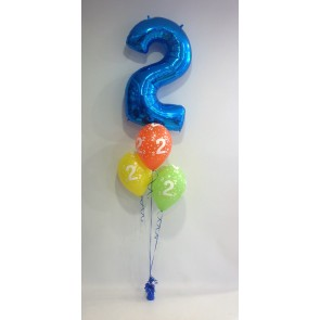 Age 2 Blue Balloon Burst