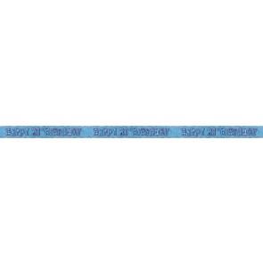 Age 21 Blue Glitz Banner