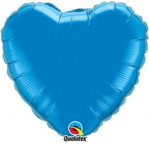 Blue Heart Foil Balloon