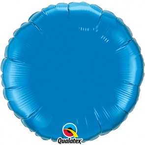 Blue Round Foil Balloon