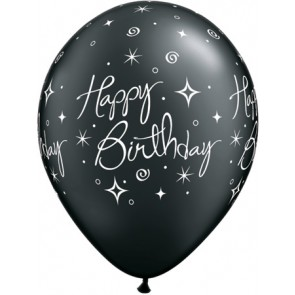 Birthday Elegant Sparkles and Swirls Latex Balloons